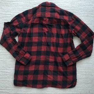 Uniqlo Tops - Uniqlo Red Black Check Flannel Shirt Top Small
